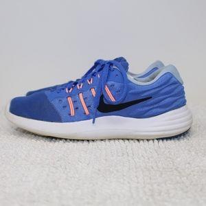 NIKE LUNARSTELOS RUNNING SHOE Sneaker Blue Size 7